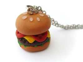 Hamburger Charm by PumpkinDream