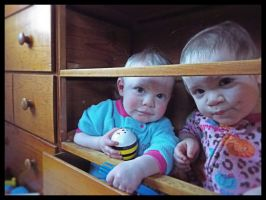 Photography: Toddlers in Drawers by UkuleleMoon