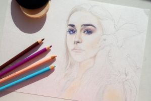 Daenerys Targaryen - Game of Thrones (WIP) by Alena-Koshkar