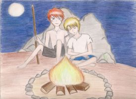 Jack and Ralph on fire watch by melodicthoughts23