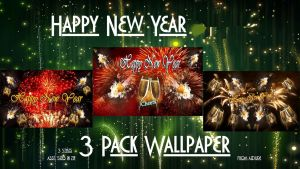 Happy New Year Walls 3pk by AzDude