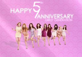 SNSD 5TH ANNIVERSARY WALLPAPER by ExoticGeneration21