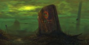 Tombstone for the Earth by RuddsArt