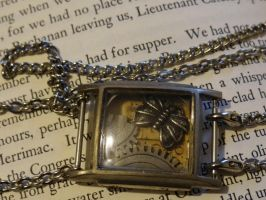Shadowbox steampunk choker by Hiddendemon-666