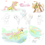 Some Overdue Doodles by bronyseph