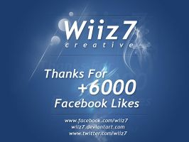 Thanks For 6.000+  Facebook Fans by daWIIZ