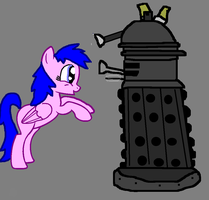 Dalek and Firefly-Dr.Whooves and Dalek Sec by FireFly1800