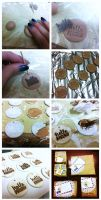 Distressed Polymer Clay Tags Tutorial by sodacrush