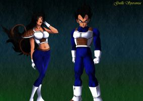 Vegeta and Artichia by guilleapi
