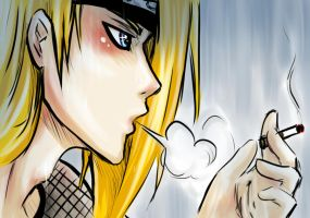 Deidara: Smoke in the Rain by Feicoon