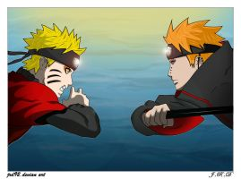 naruto vs pain color by JRD92