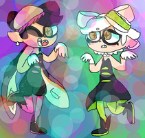 Squid Sisters by Fire-Obsidian