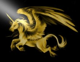 Gold Pegasus by xxAmber-Laylaxx