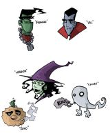 Other Halloweenie characters by JeremyTreece