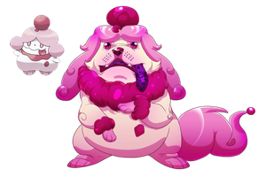 Slurpuff-  A sugary-sweet pup by blueharuka