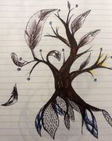 Feather Tree by AussieDragoness