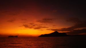 Sunrise over Victoira / Seychelles by Navvyblue