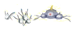 Realistic Magnemite evolution line by Gnin