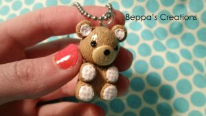 Teddy Bear Necklace by BeppasCreations