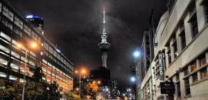 Auckland Sky Tower at Night by hardhouse