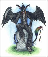 Rensis on a Grave by psycrowe
