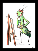 Painting Mantis by MaryCapaldi