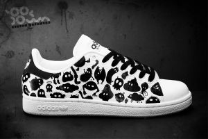 "Custom Sneakers ""Monsters"" by JohanNordstrom"