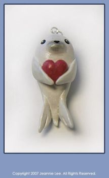 White Seal with Heart Charm by junosama