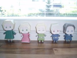 APH papercraft: German family by Demmi-chan