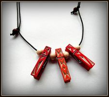 CLIPS NECKLACE :-) by MassoGeppetto