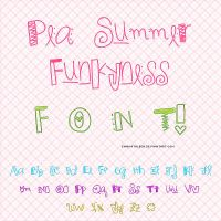 Pea Summer Funkyness - FontO1* by EmmKathleen