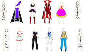 Costume Adopts by evilsushicat