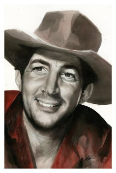 Dean Martin from Rio Bravo by SALTWatercolors