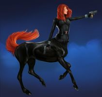 Black Widow centaur by SoihtuSS