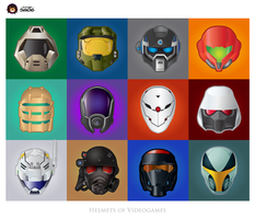 Helmets of Videogames by S-m-o-G