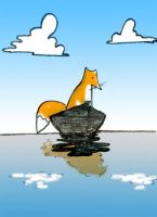 fox in the boat by coldtheo