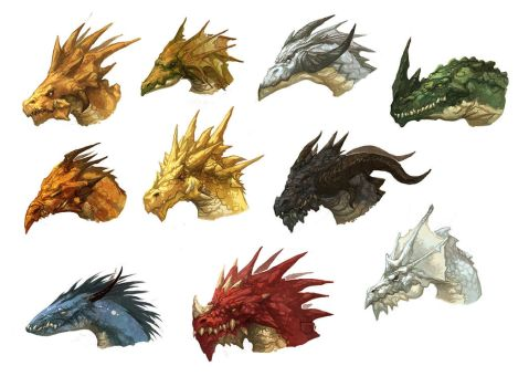 Dragon Heads by nJoo