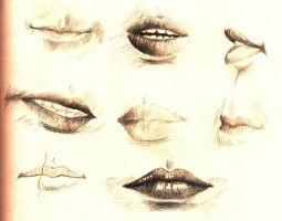 Drawing ::Lip Study:: by Ruehl21