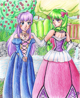 Hikaru and Feena- ART TRADE WITH VERLIET427 OvO by Sashasky98