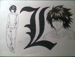 L - Death Note by Kirval159