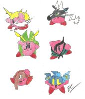 Kirby Hats: Gen. 5 faves 1 by BlackCarrot1129
