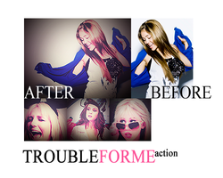 TROUBLEFORME action by Kiickass