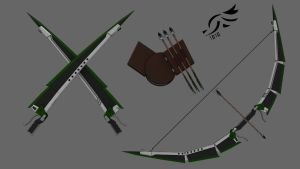'Ardent Whisper' - RWBY OC Weapon by DenalCC1010