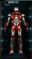 Iron Man Armor MK 19 - Tiger by IronManCubeecrafts