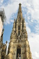 St Stephens Cathedral spire, Vienna by wildplaces