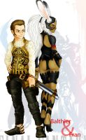 Balthier and Fran by J-e-J-e
