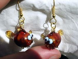Pufferfish Earrings by Glasmagie