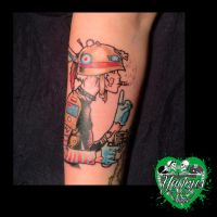 Tank Girl tattoo by yayzus