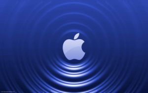 Blue Apple - Ripple Effect by Seans-Photography
