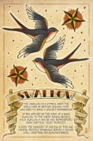 Swallow Tattoos by Chronoperates